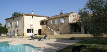 Propriété-ensemble rénové de maison grange pigeonnier piscine sur 6,5 ha-20 km Montauban-ref1535