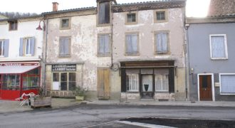 Maisons Laguépie anciennes boutiques accolées dépendance avec jardin et accès rivière REF 1566