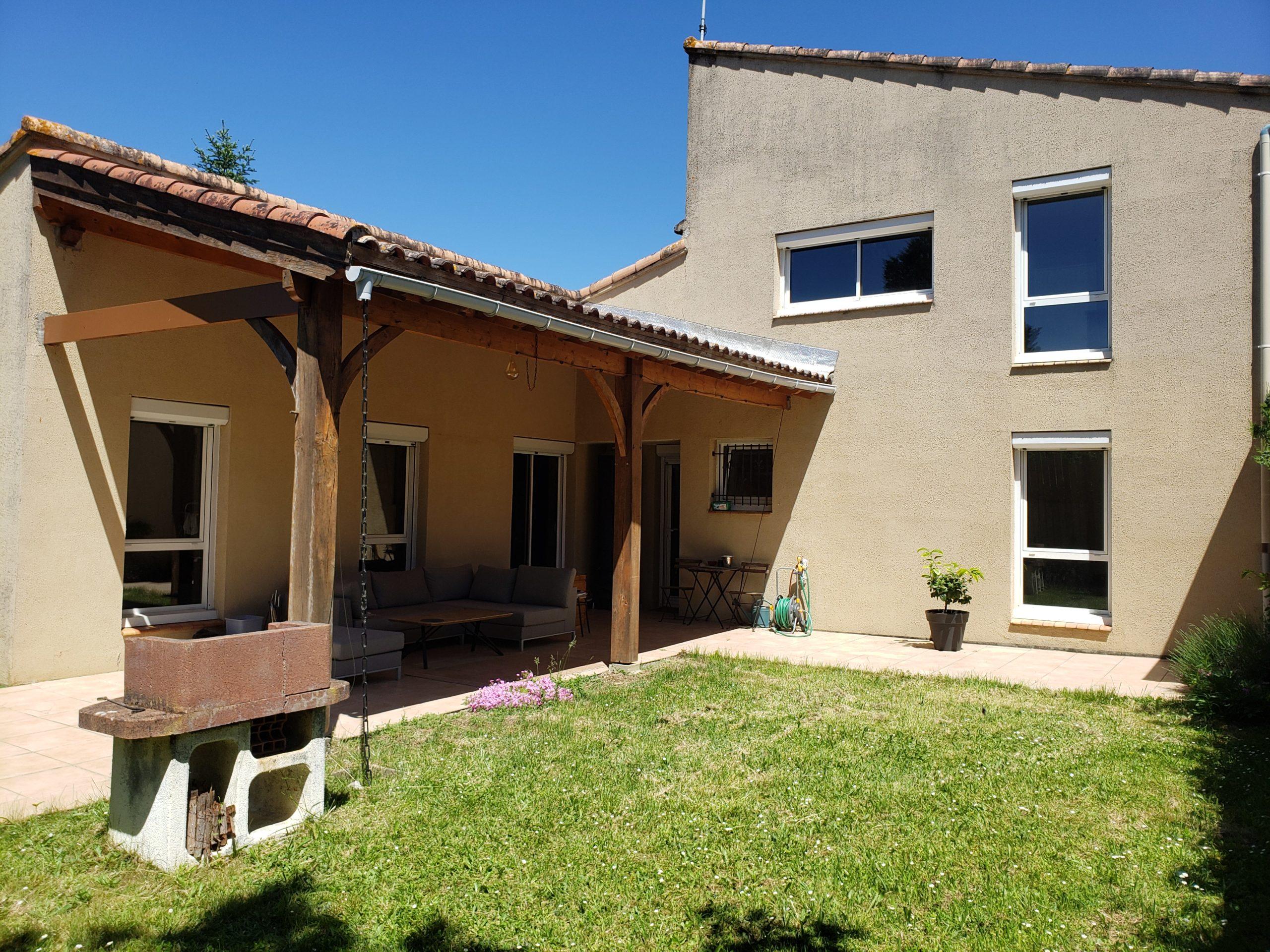 Caussade maison de plain-pied 3/4 chambres avec jardin et garage REF 1484